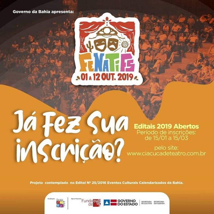 22357a2211d INSCRIÇÕES ABERTAS - PARA A 12ª EDIÇÃO DO FENATIFS